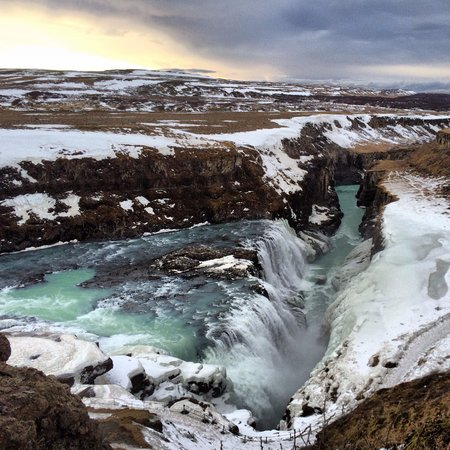 gullfoss. picture of geoiceland day tours, reykjavik
