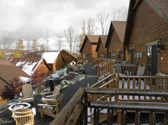 The Lodges at Sunset Village: View from back deck of the other cabins