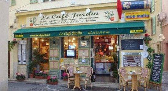 La fa ade de l 39 tablissement for Restaurant le jardin antibes