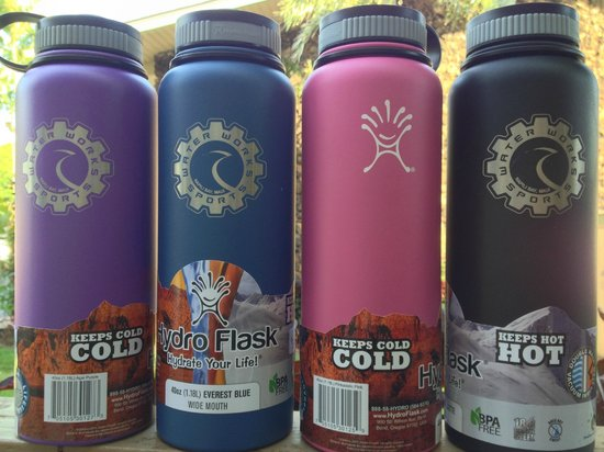 We sell hydro flasks picture of water works sports lahaina