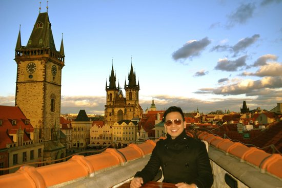 From the rooftop of terasa hotel u prince picture of for Terrace u prince prague