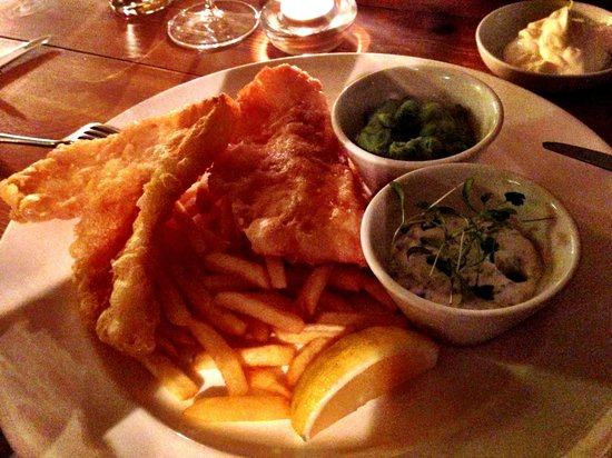 Fish and chips for Anchor fish and chips