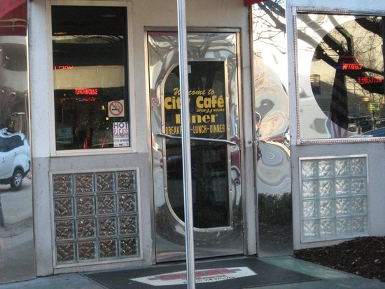 Diner Classic Front Door Picture Of City Cafe Diner Chattanooga Tripadvisor