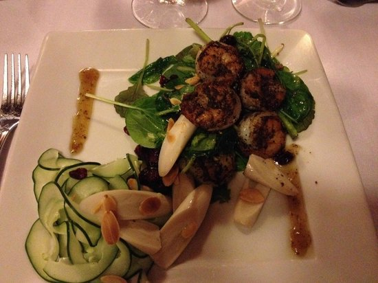 Virgin Fire Bar & Grill: Josephine's Greens with Grilled Shrimp
