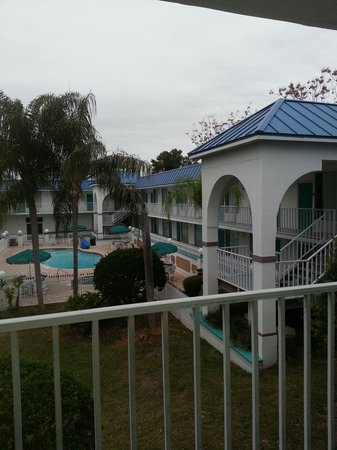 Days Inn & Suites Port Richey: Pool view from outside my room in Jan 2014