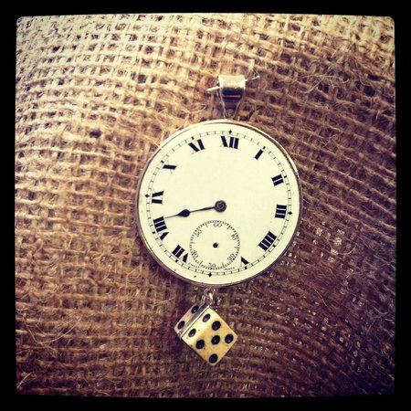 Antique Clock And Victorian Dice Pendant Picture Of Miss