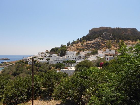 From the Rainbird bar - Picture of Village of Lindos ...