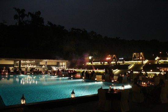 grill by the pool - taj madikeri