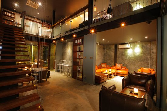 Nice decoration picture of cask whisky bar yangon