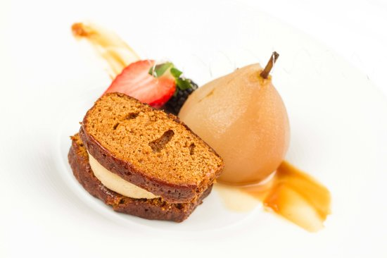 Poached Pear & Gingerbread Slider
