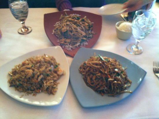 Mongolian chicken house special fried rice and pork lo for Ably asian cuisine