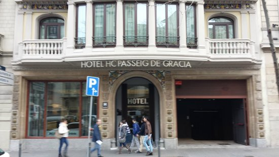 Front of hotel for Hotel gracia barcelona