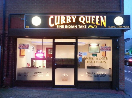 Front Of Shop Picture Of Curry Queen Indian Takeaway