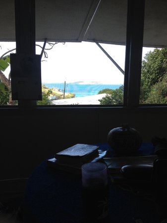 Star Villas: screened in porch with view of frank bay