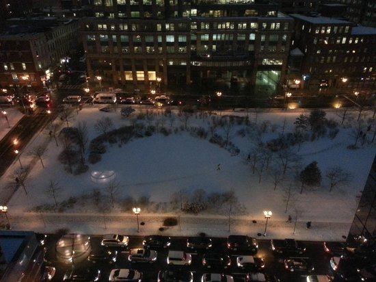 InterContinental Boston: the view from the Club Lounge