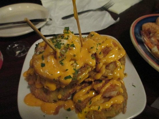 Fried green tomato tower picture of mr fish myrtle for Carolina fish fry