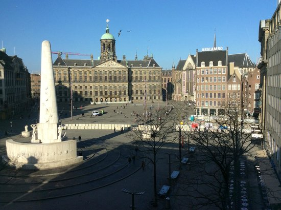View over the dam square foto van nh amsterdam grand for Hotel amsterdam economici piazza dam
