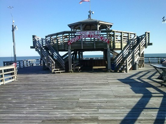 The cherry grover fishing pier is connected to teh resort for North myrtle beach fishing pier