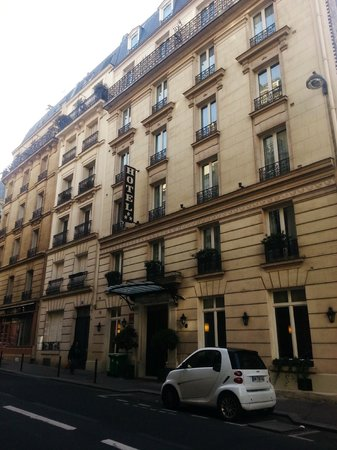 Outside The Hotel Picture Of Hotel Val Girard Paris