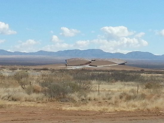 Dam Site Resort and Marina: Spaceport America from the gates
