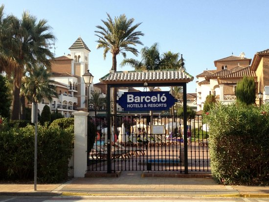 View from across the road picture of barcelo isla canela for Barcelo jardin del mar santa ponsa