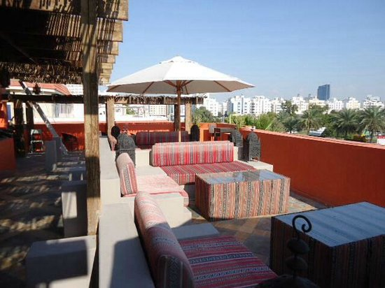 Nice roof terrace picture of cafe arabia abu dhabi for 211 roof terrace cafe