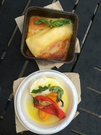 Epcot: Three cheese manicotti & Caprese from Primavera Outdoor Kitchen