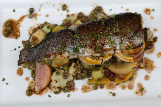 Bar Photo: Pan seared Opah over bok choy, roasted shiitake mushrooms ...