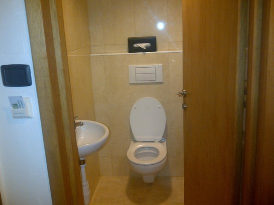 Holiday Inn Accra Airport : Small room with WC and sink room. Shower/tub in adjacent room