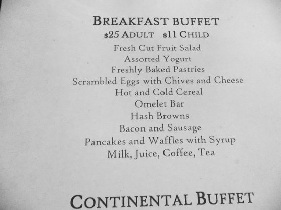 2014 breakfast menu picture of the ahwahnee hotel dining ahwahnee dining room menu home planning ideas 2017
