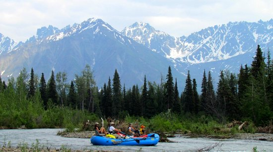 Denali view chulitna river picture of willow alaska for Willow beach fishing report
