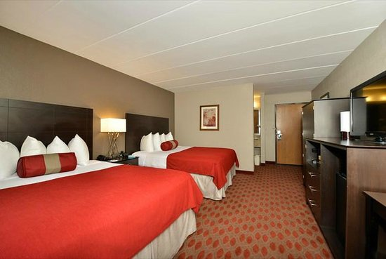 2 queen beds picture of best western plus minneapolis for Manor motor lodge two queens