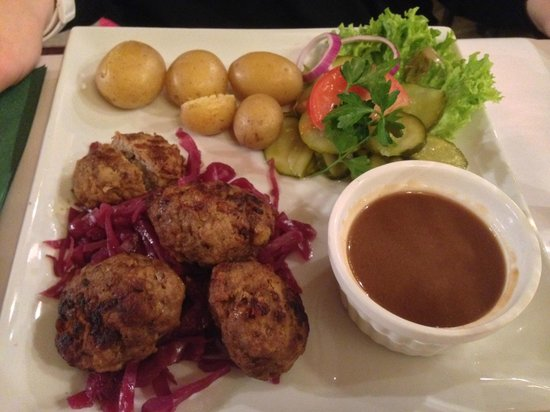 danish meatballs - Picture of Nytorv Restaurant and Cafe, Copenhagen ...