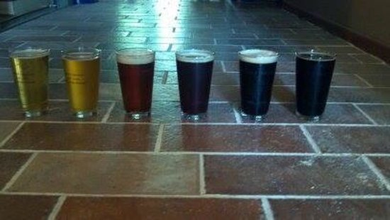 Adel, IA: CQ Brewing Pints in the Brewery