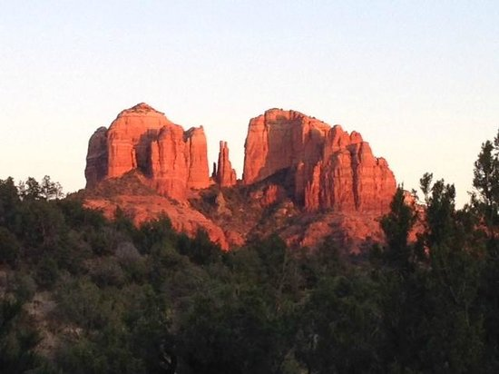 Sedona Cathedral Hideaway: View from the deck and our room.
