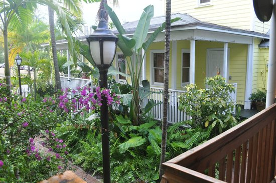 Palm Beach Hibiscus: View of the Garden House Porch
