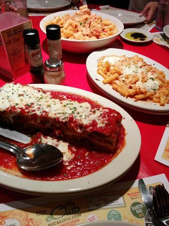 Family Style Lasagna And Baked Ziti Picture Of Buca Di
