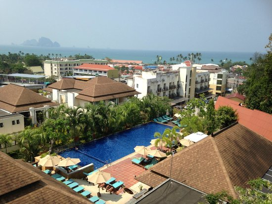 view from our room picture of aonang cliff beach resort. Black Bedroom Furniture Sets. Home Design Ideas