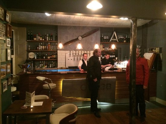 Great venue good beers fantastic staff aviator bar for Galley kitchen with breakfast bar