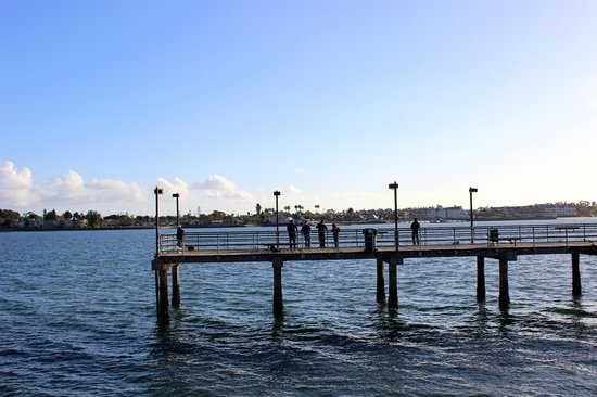 Downtown fishing pier on san diego bay picture of city for Pier fishing san diego