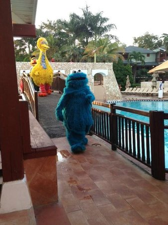 Sesame Street Characters Around The Hotel Picture Of Beaches Negril Resort