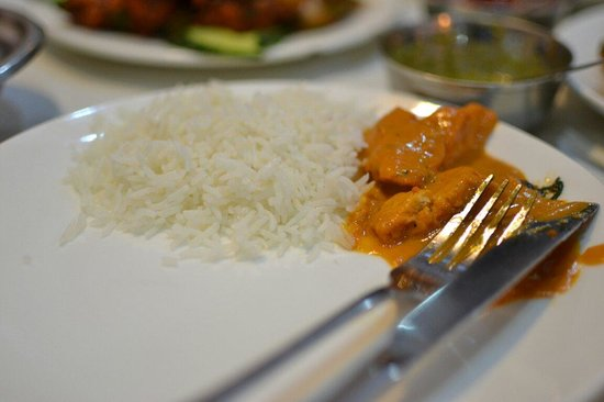Ganesha Indian Restaurant: Butter chicken & basmati Rice