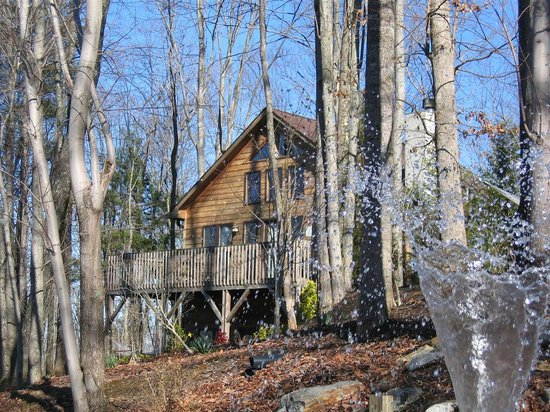Back of kaitlin 39 s hemlock picture of asheville cabins of for Tripadvisor asheville nc cabin rentals