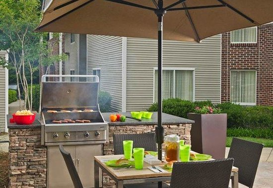 Outdoor patio bbq picture of residence inn durham research triangle
