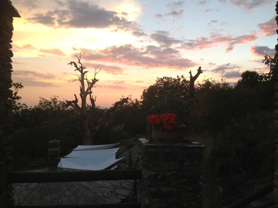 Canar, Spain: Sunset from the Terrace