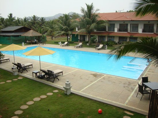 Pool View From The Deluxe Rooms Picture Of U Tropicana Alibaug Alibaug Tripadvisor