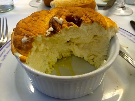 Soufflé Cheese and Bacon - Picture of Le Souffle, Paris - TripAdvisor