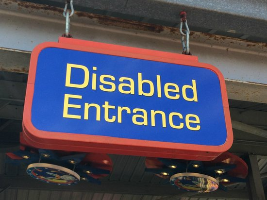 Disabled Entrance Sign Picture Of Alton Towers Alton