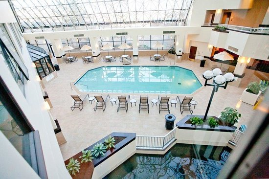 View Of Indoor Swimming Pool Picture Of Crowne Plaza St Louis Airport Bridgeton Tripadvisor