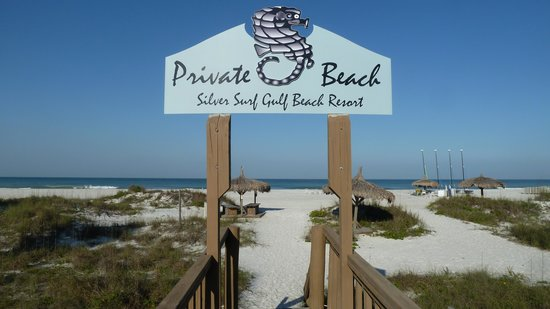 entrance to beach picture of silver surf gulf beach. Black Bedroom Furniture Sets. Home Design Ideas